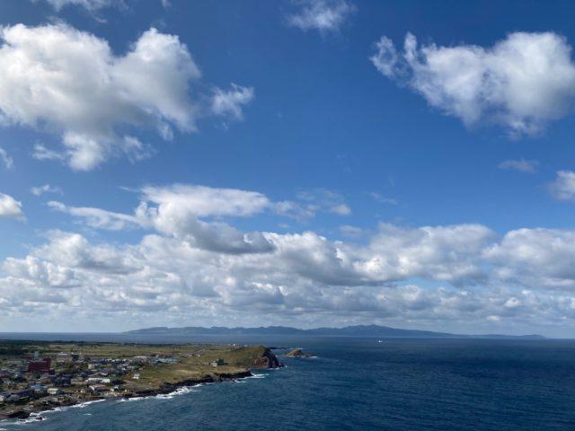 利尻島のペシ岬展望台からの景色